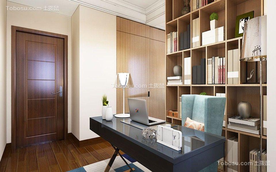 2018现代书房装修设计 2018现代书桌装修图片