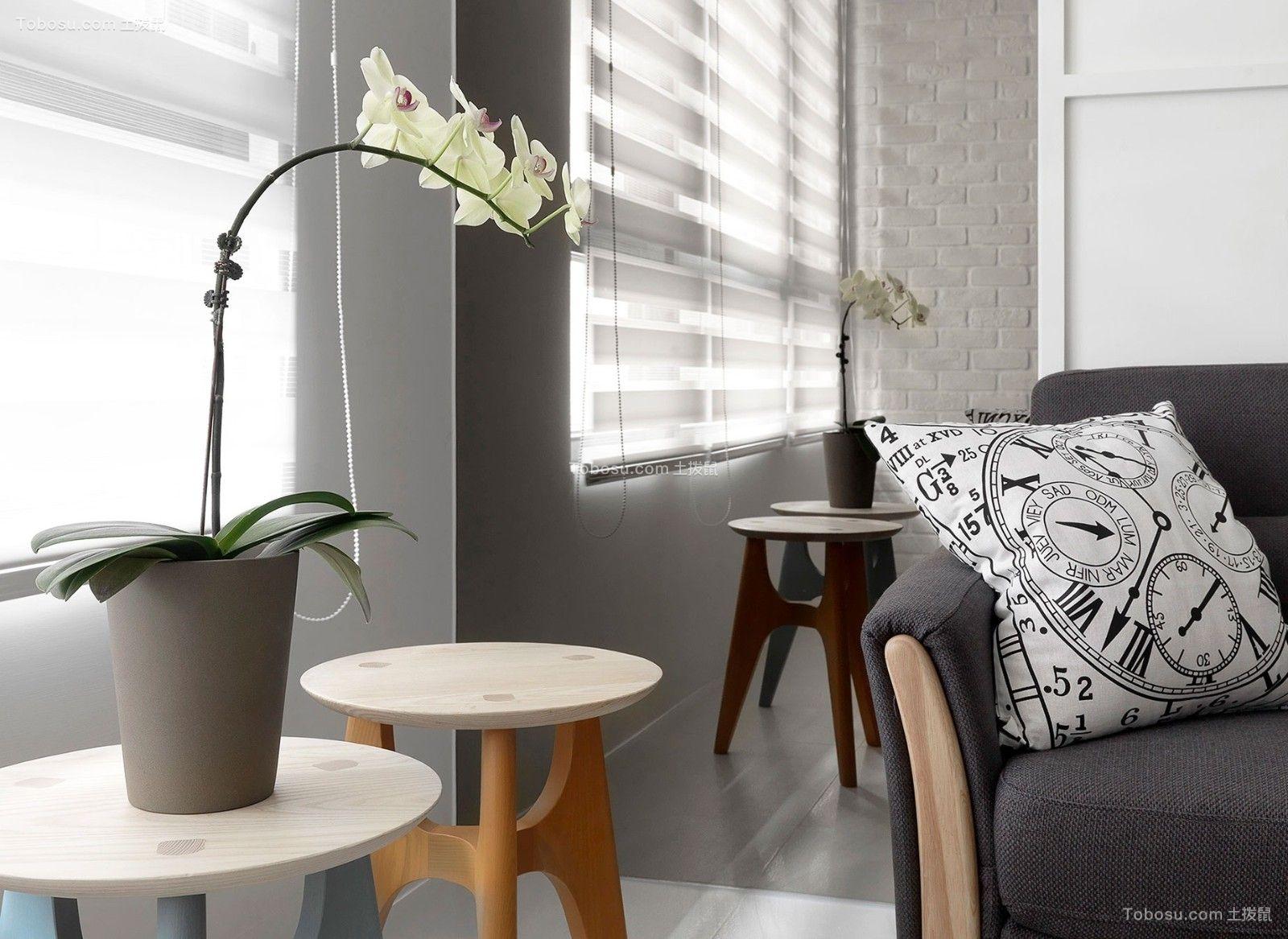 优雅灰色客厅家装设计图