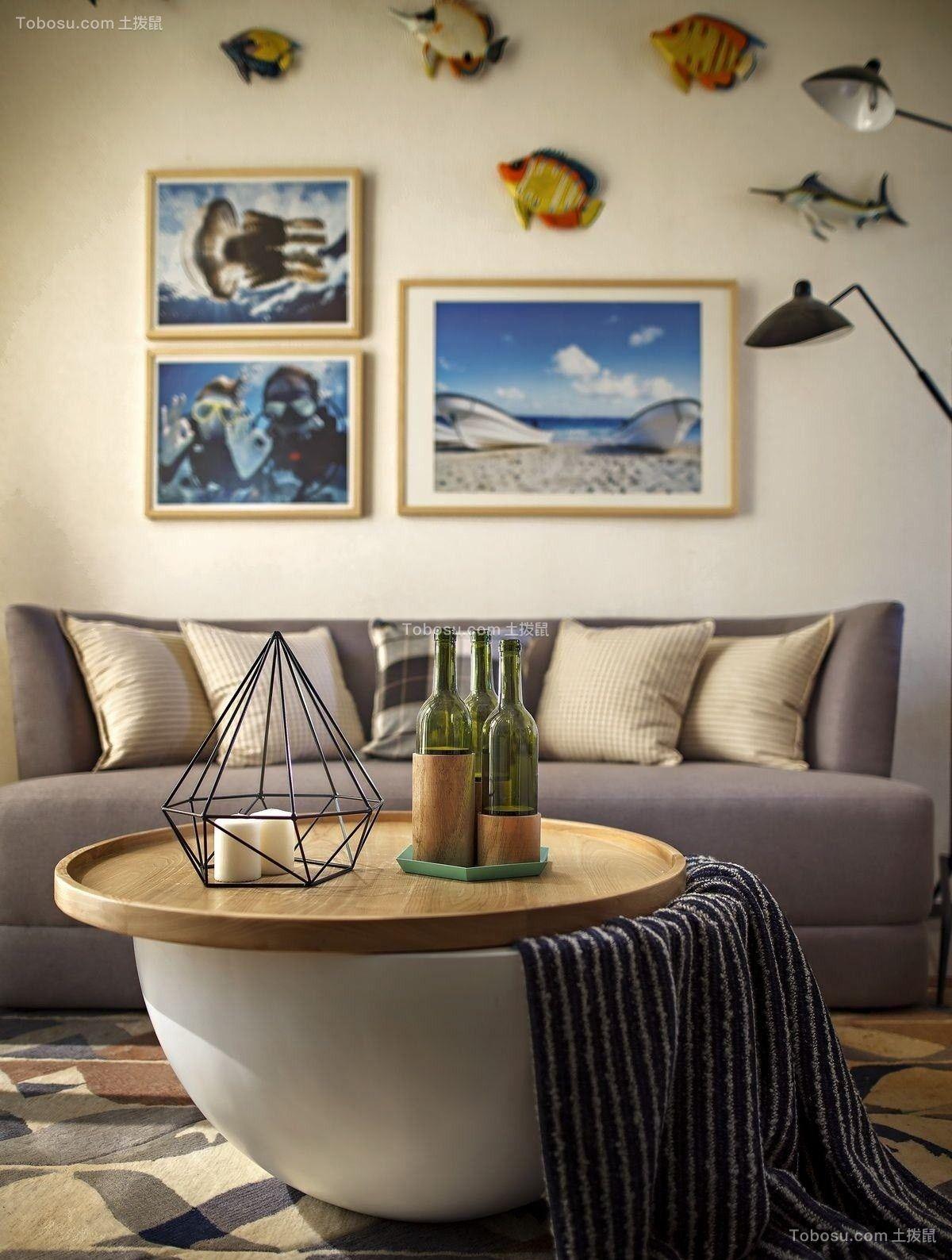 高贵风雅北欧灰色沙发设计效果图