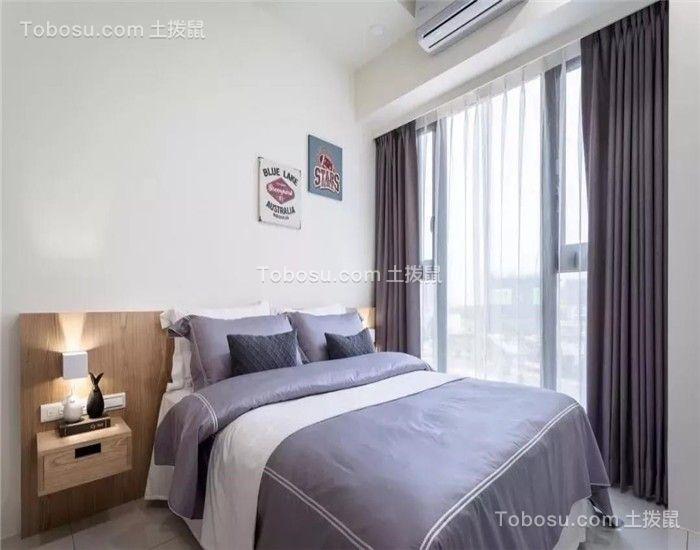 2018现代简约卧室装修设计图片 2018现代简约窗帘装修设计图片