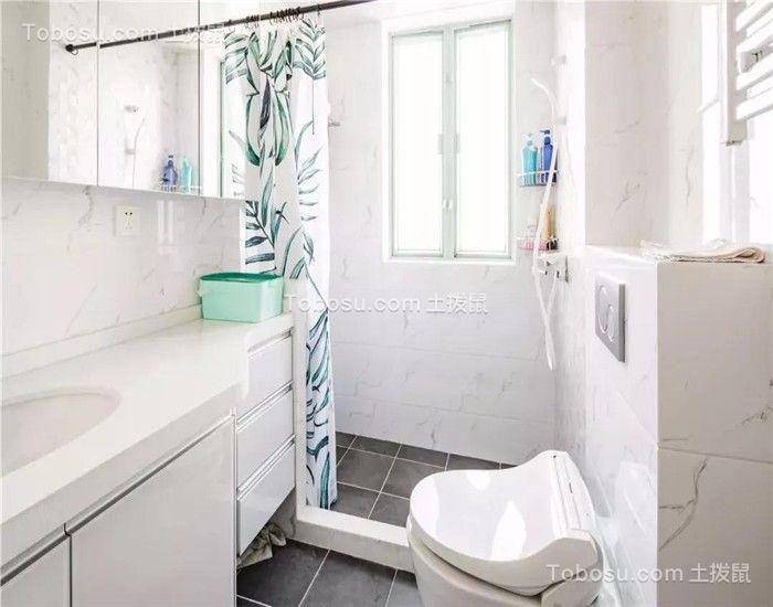 朴素温馨白色卫生间设计