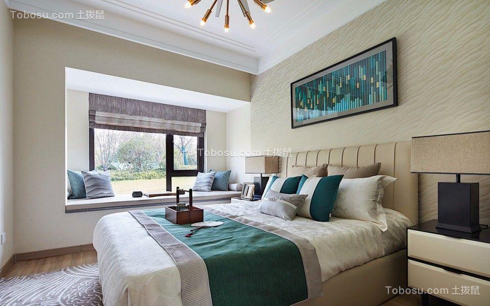 2018中式卧室装修设计图片 2018中式床图片
