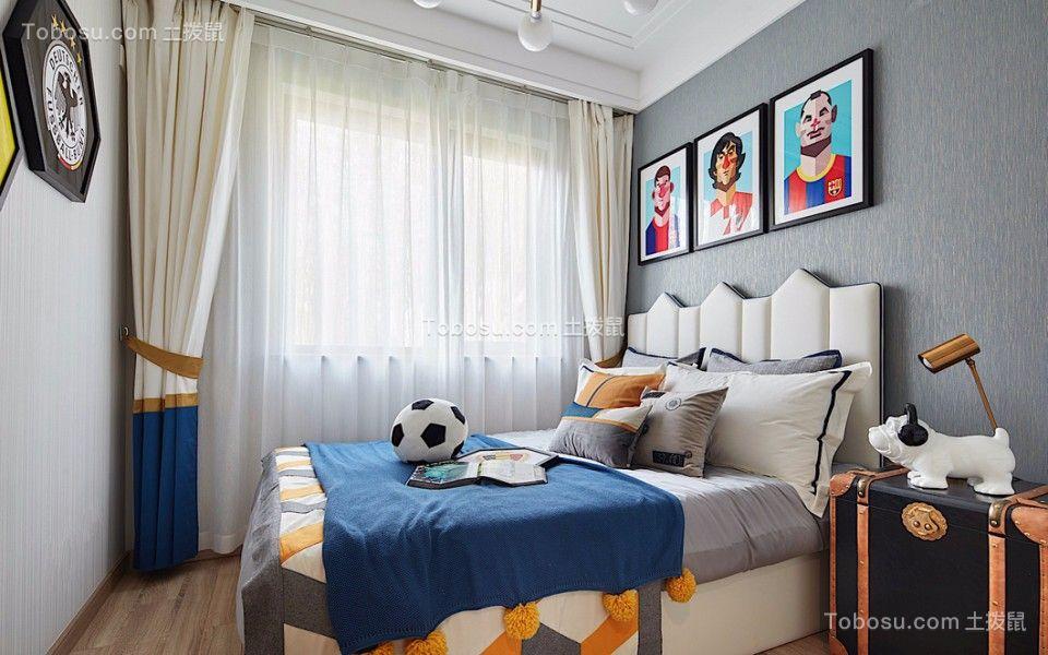 2018中式儿童房装饰设计 2018中式背景墙图片