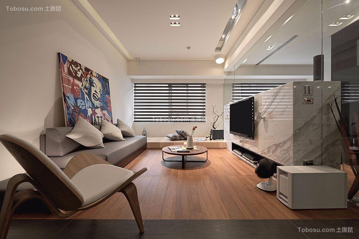 90平简约风格三居室装修效果图