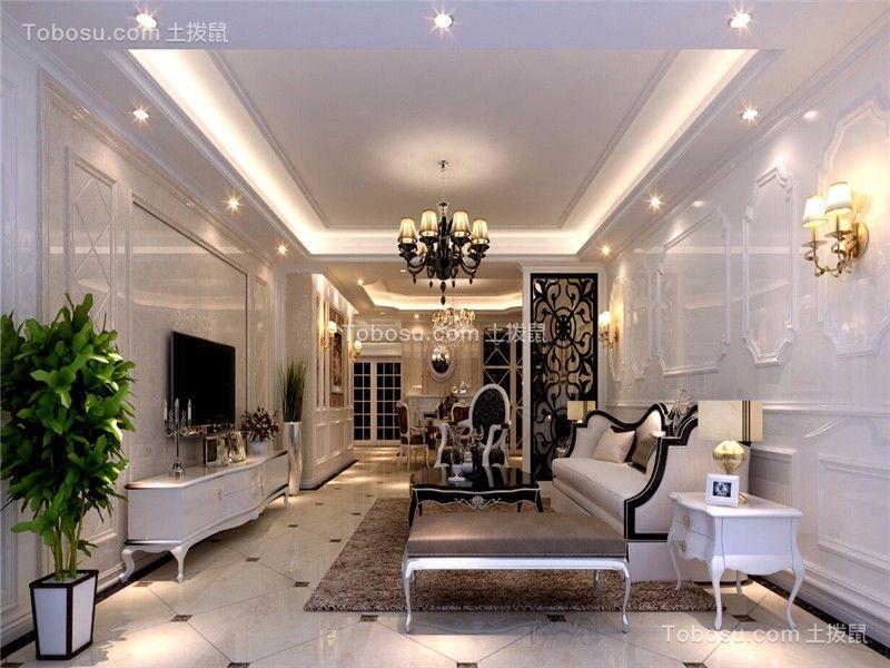 107平欧式风格三居室装修效果图