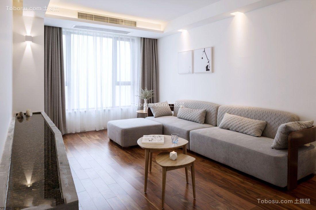 64平中式风格两居室装修效果图