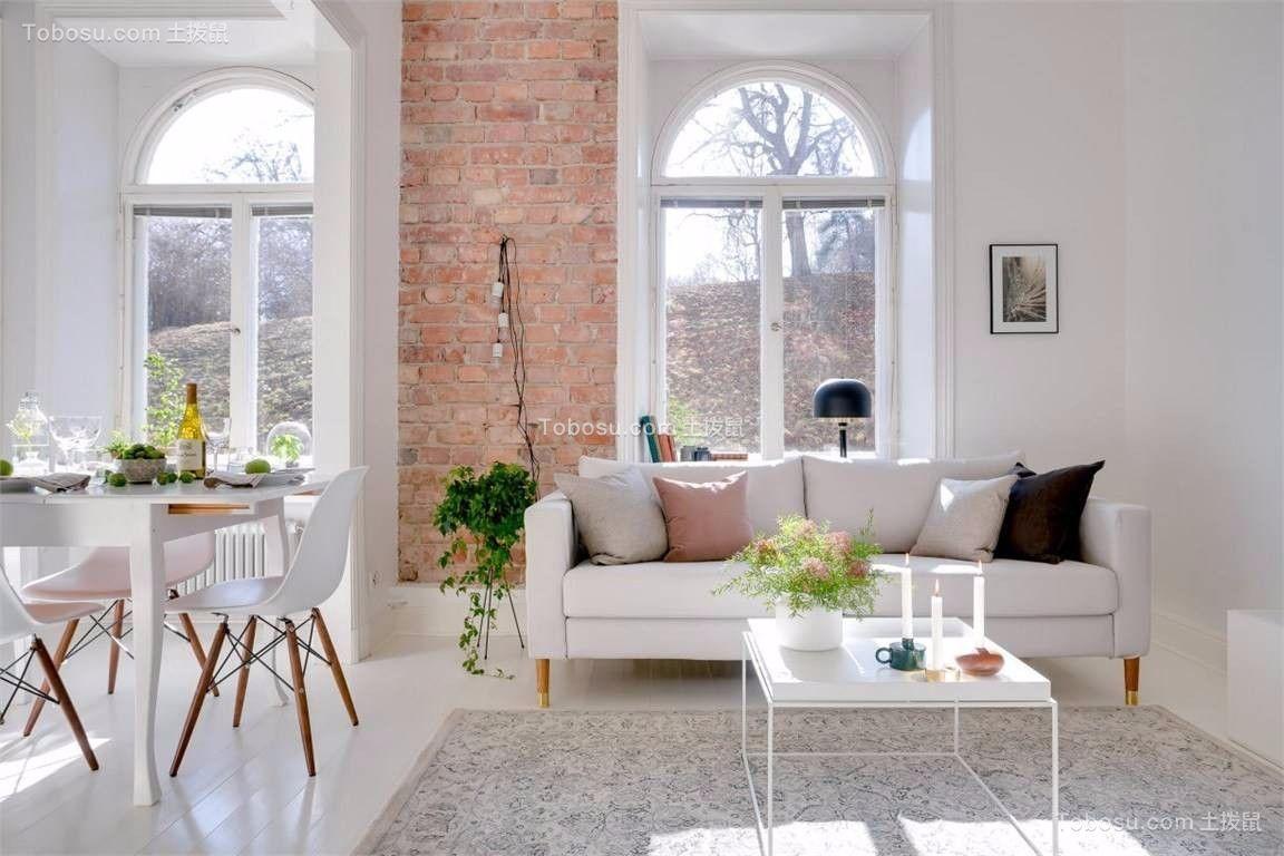 94平北欧风格三居室装修效果图