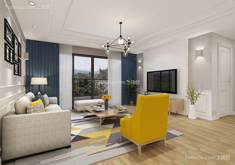 140平现代风格三室两厅装修效果图