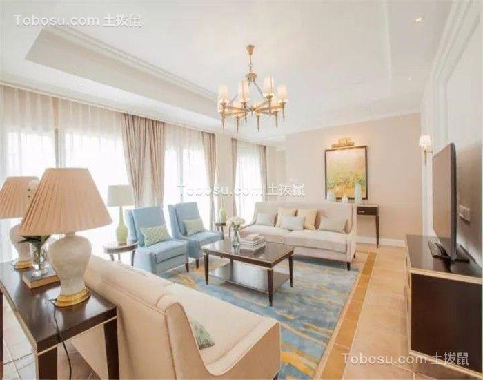 客厅米色沙发新古典风格效果图