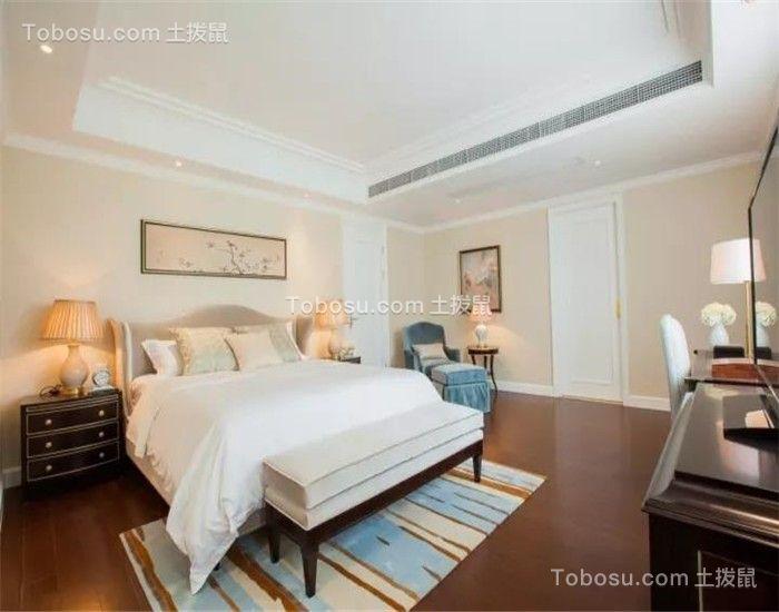 卧室米色床新古典风格装潢效果图