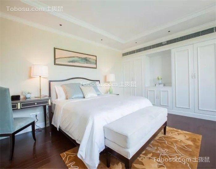卧室米色背景墙新古典风格装修图片