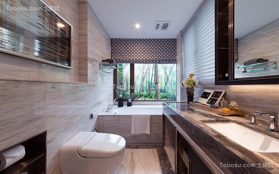 卫生间灰色洗漱台现代风格装潢设计图片