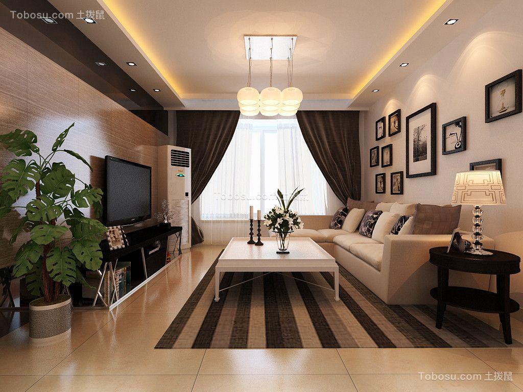 142平现代风格两居室装修效果图