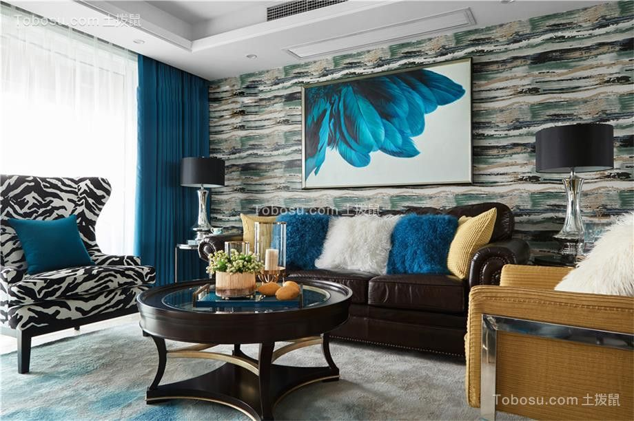 150平美式风格三居室装修效果图