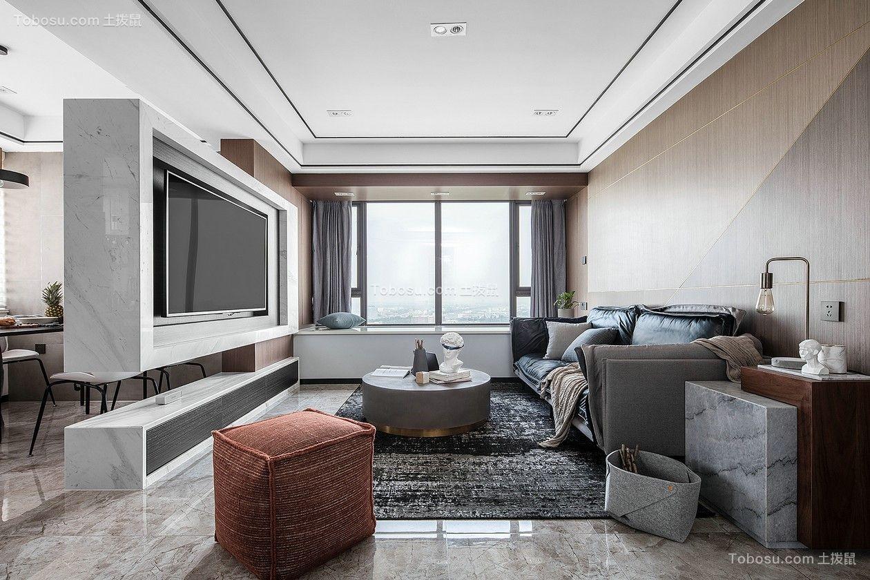 96平现代风格两居室装修效果图