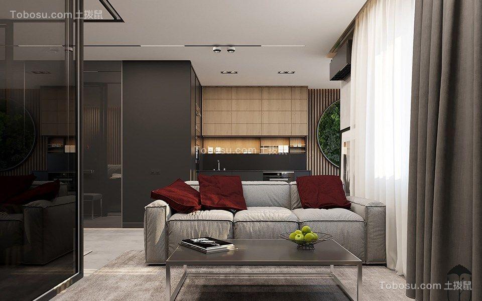 78平现代风格公寓装修效果图