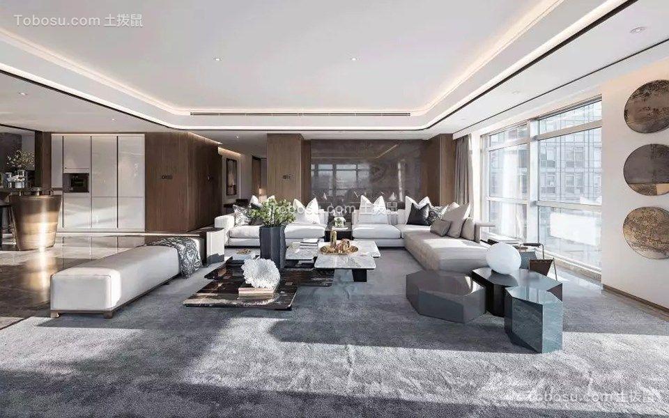 160平现代风格四居室装修效果图