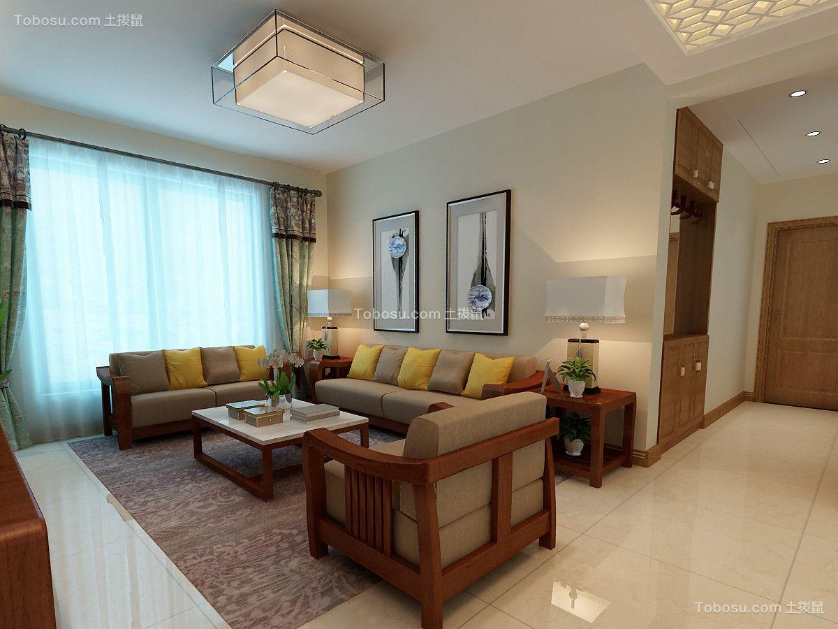 138平美式风格三居室装修效果图