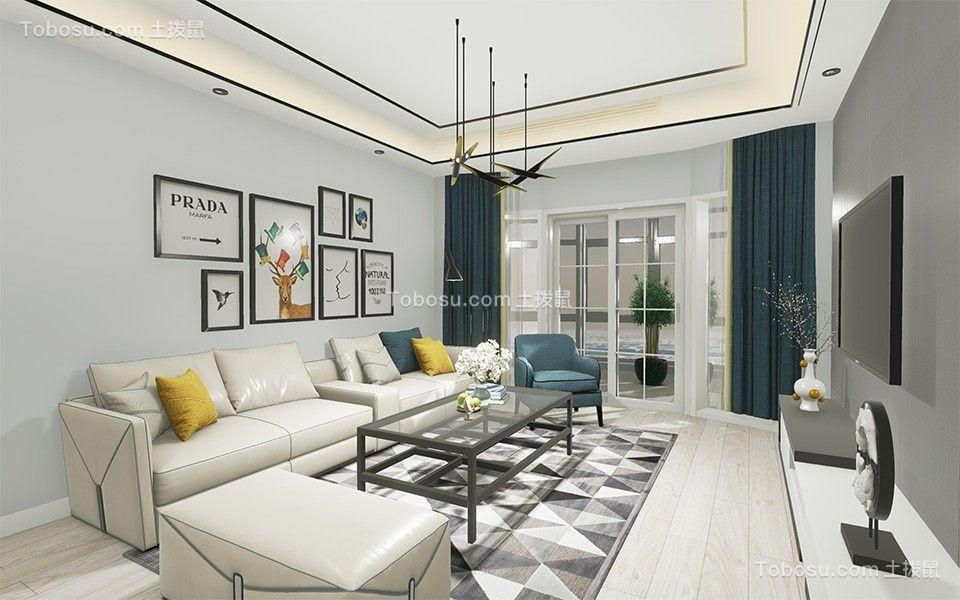 74平现代简约风格两居室装修效果图