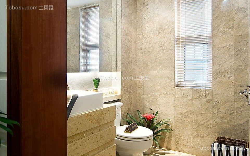 卫生间米色背景墙简约风格装饰效果图