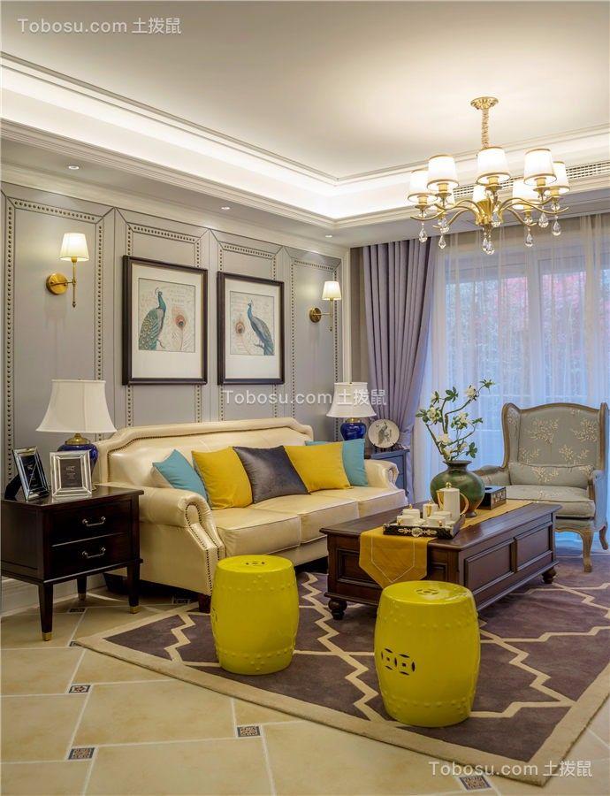 郑州紫荆尚都45平米现代简约风格效果图