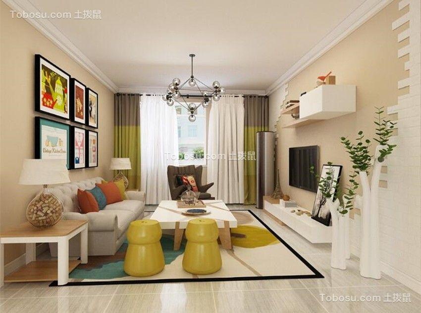 105平田园风格三居室装修效果图