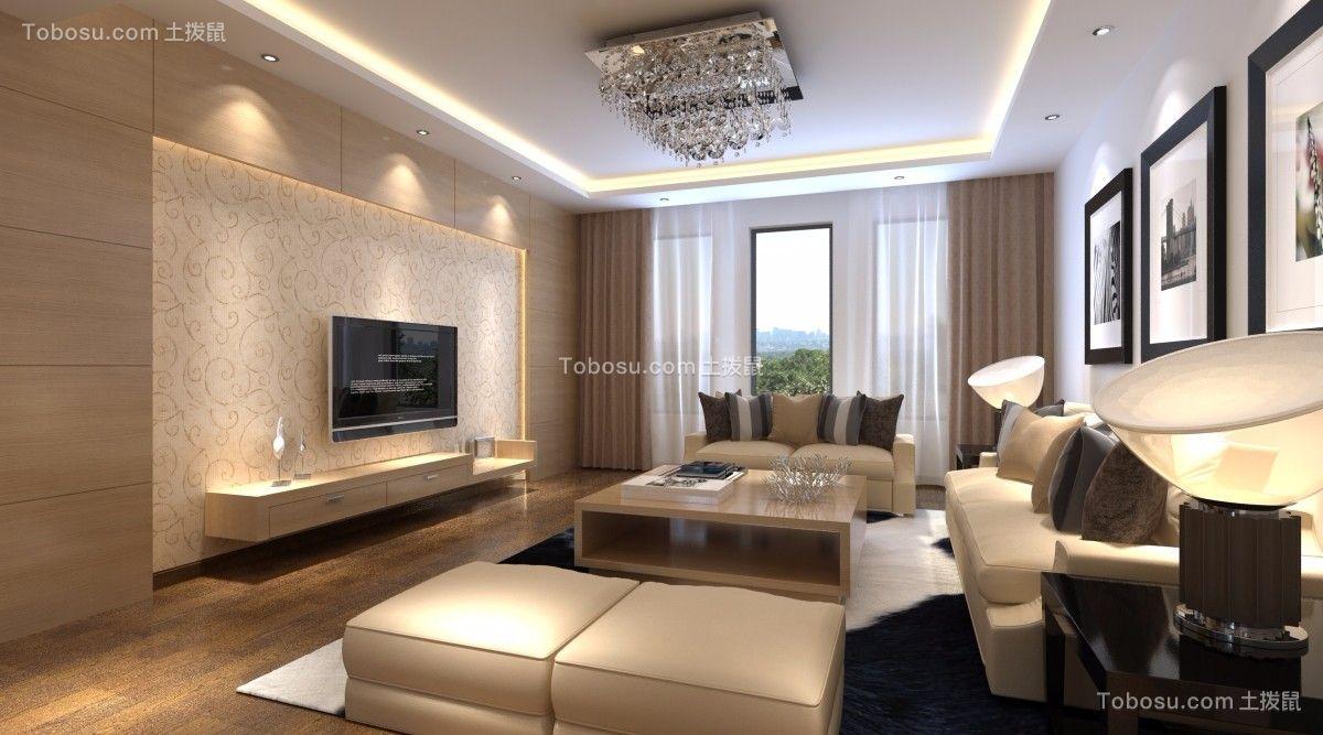 97平简约风格两居室装修效果图