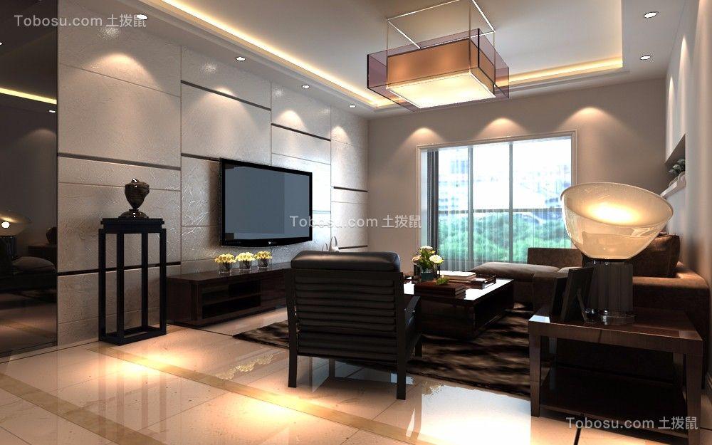 109平新中式风格三居室装修效果图