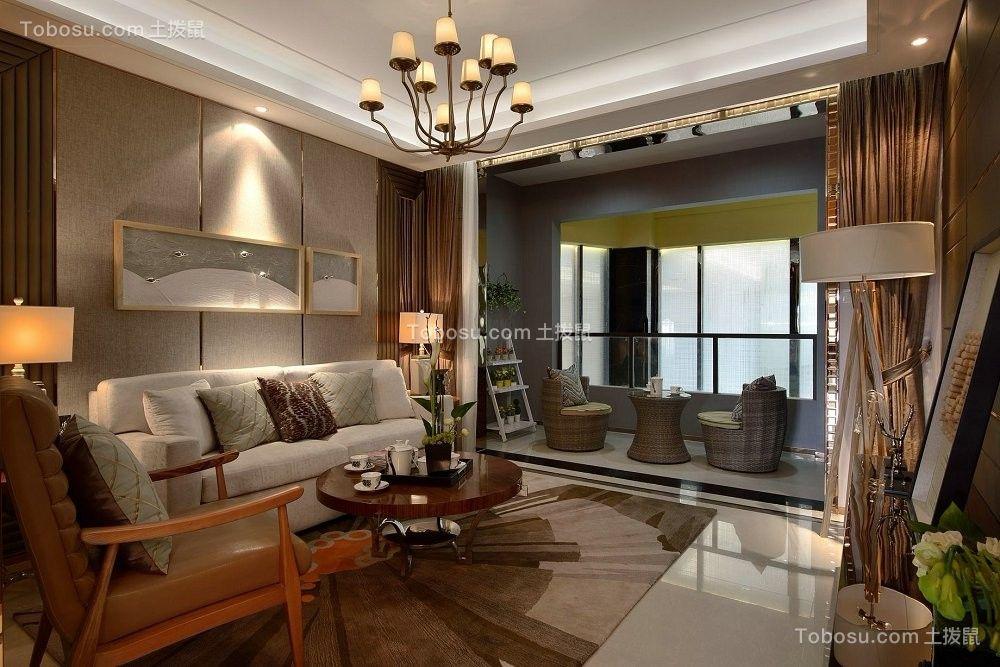 112平现代简约风格三居室装修效果图