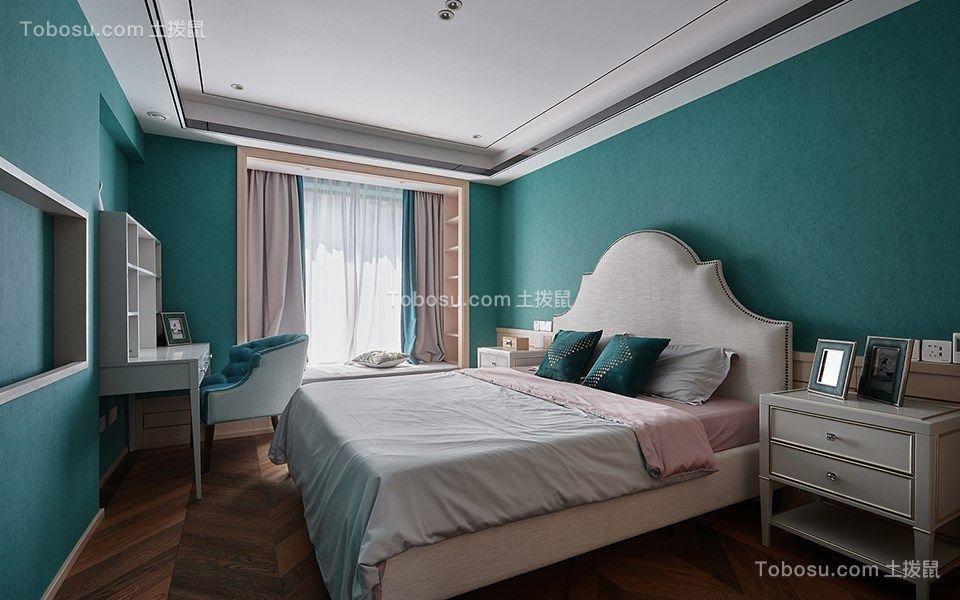 简约绿色卧室装修效果图