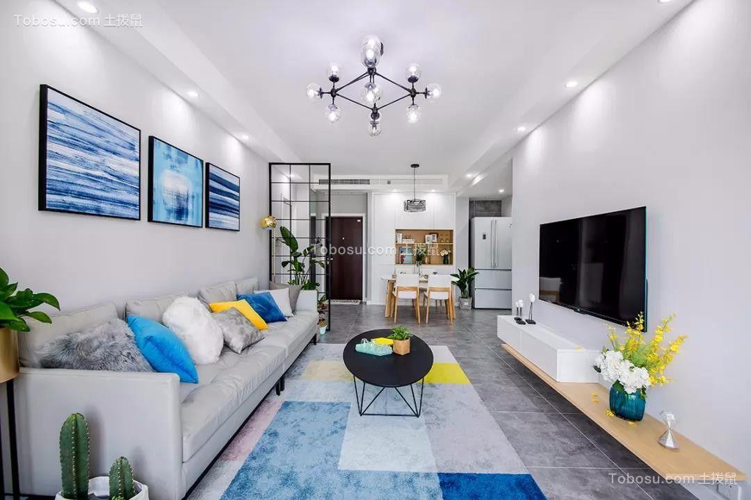 72平北欧风格两居室装修效果图