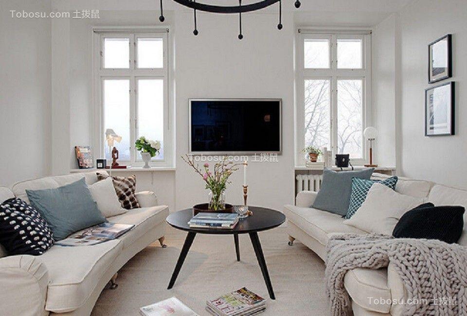 81平欧式风格两居室装修效果图