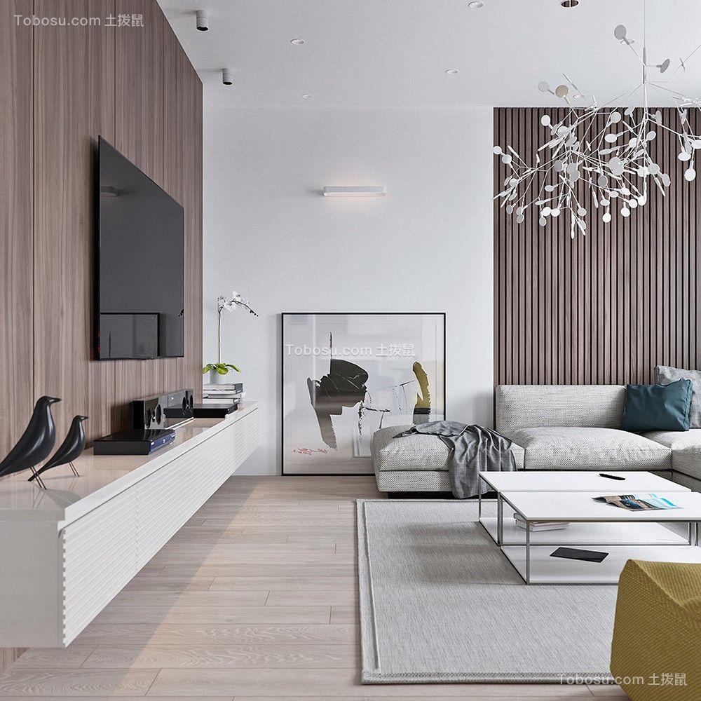 105平现代简约风格两居室装修效果图