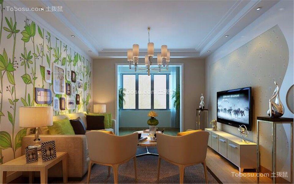 126平北欧风格三居室装修效果图
