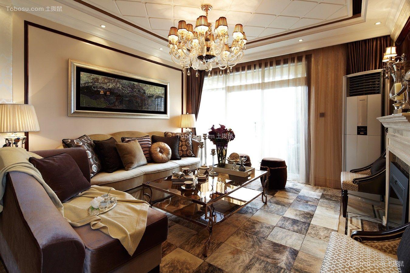 157平美式风格三居室装修效果图