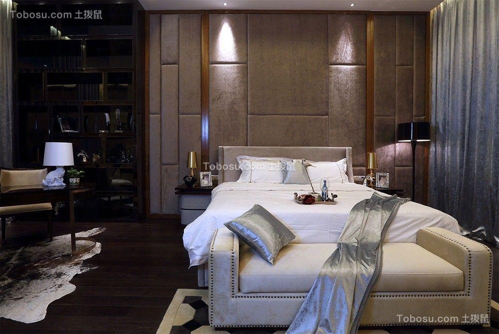 164平新中式风格三居室装修效果图