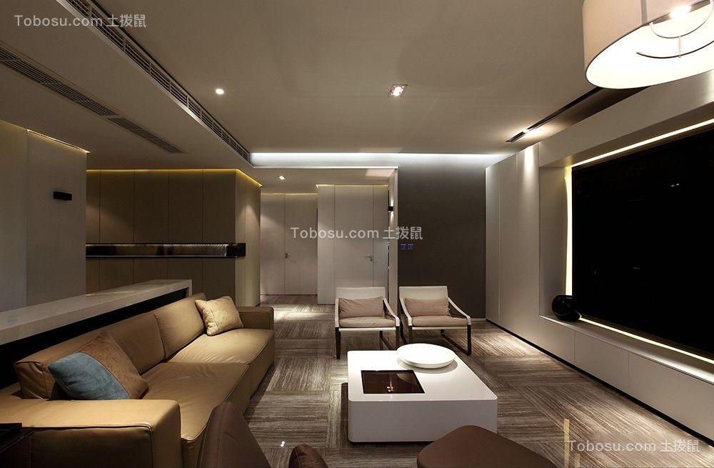 174平后现代风格四居室装修效果图