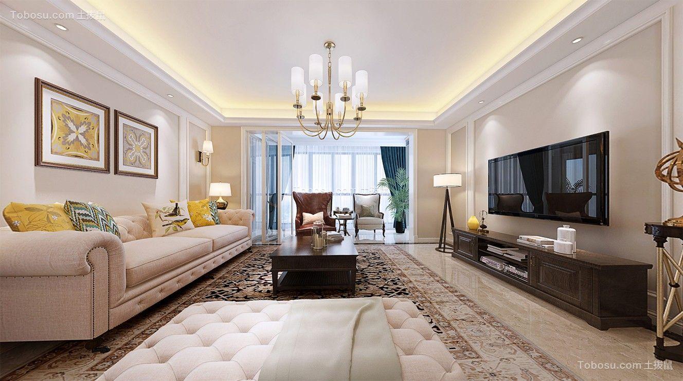 150平美式风格四居室装修效果图