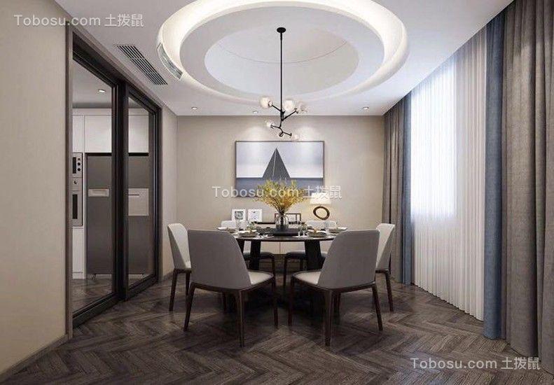 114平简约风格三居室装修效果图