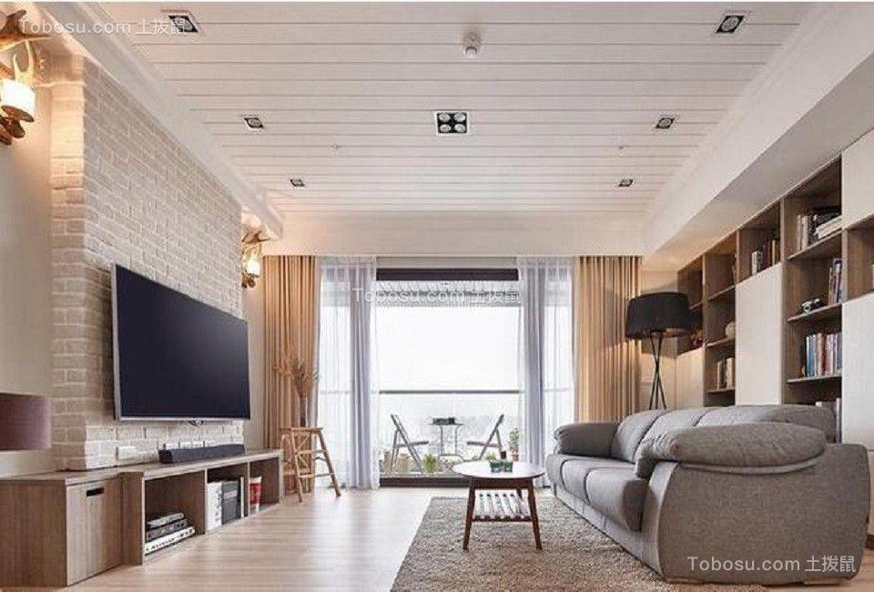 128平美式风格两居室装修效果图