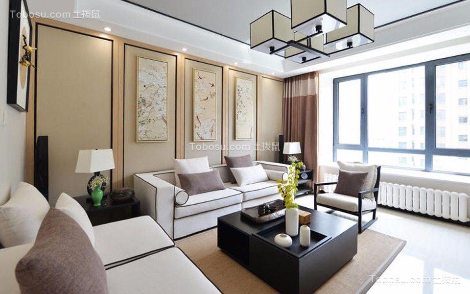 105平中式风格公寓装修效果图