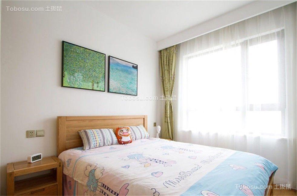 温暖绿色卧室装修实景图