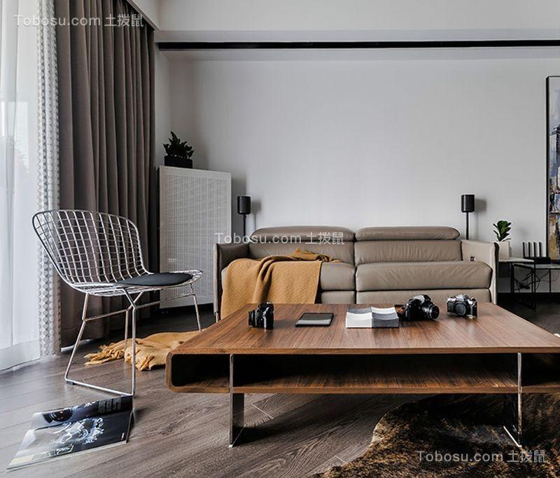 95平后现代风格两居室装修效果图