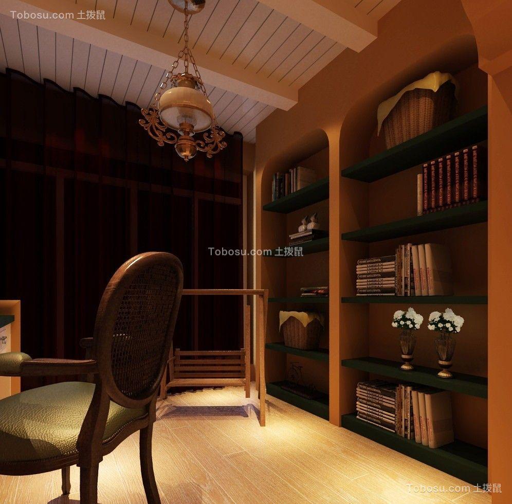 奢华绿色书架装潢实景图片