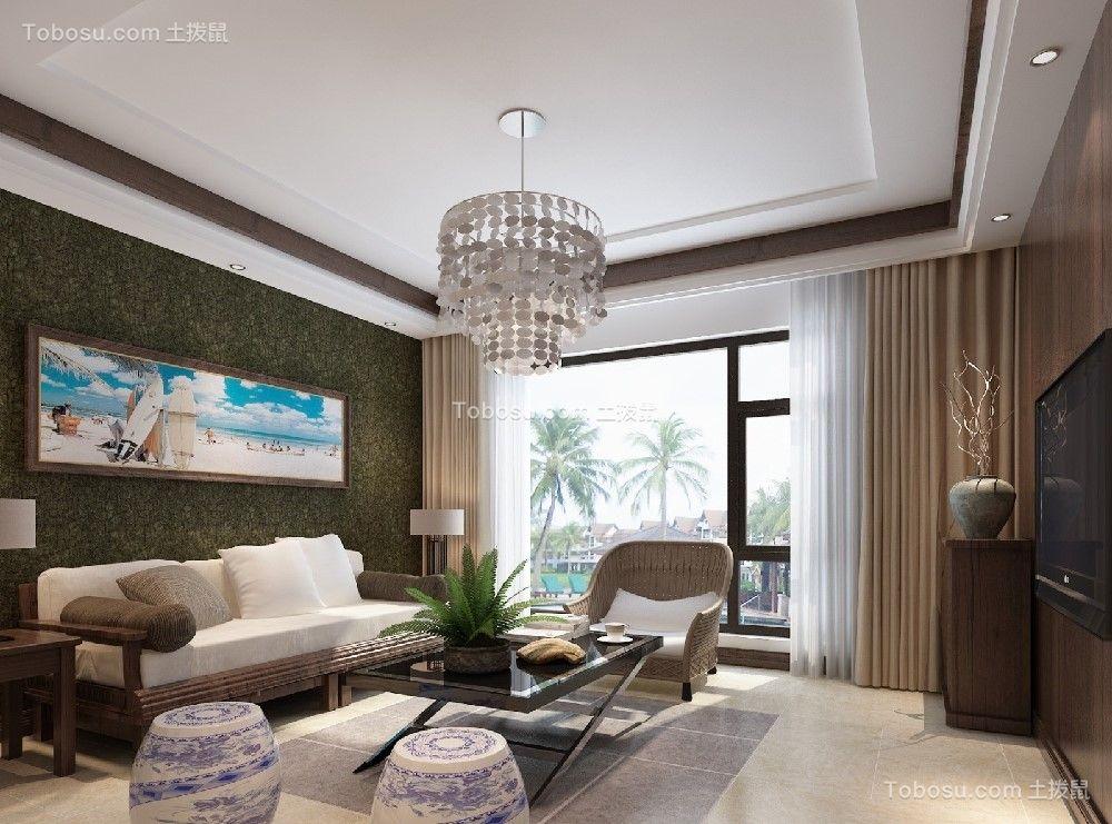 125平美式风格套房装修效果图