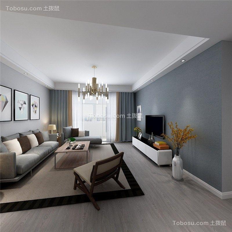 140平現代風格三居室裝修效果圖