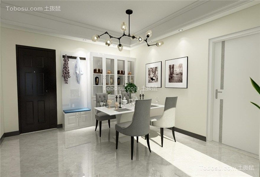 102平現代風格三居室裝修效果圖