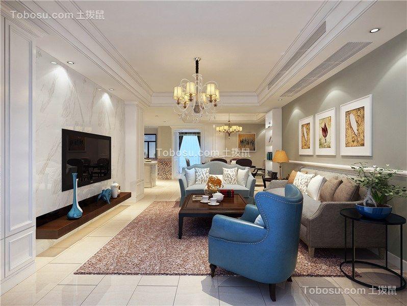 180平美式风格三居室装修效果图