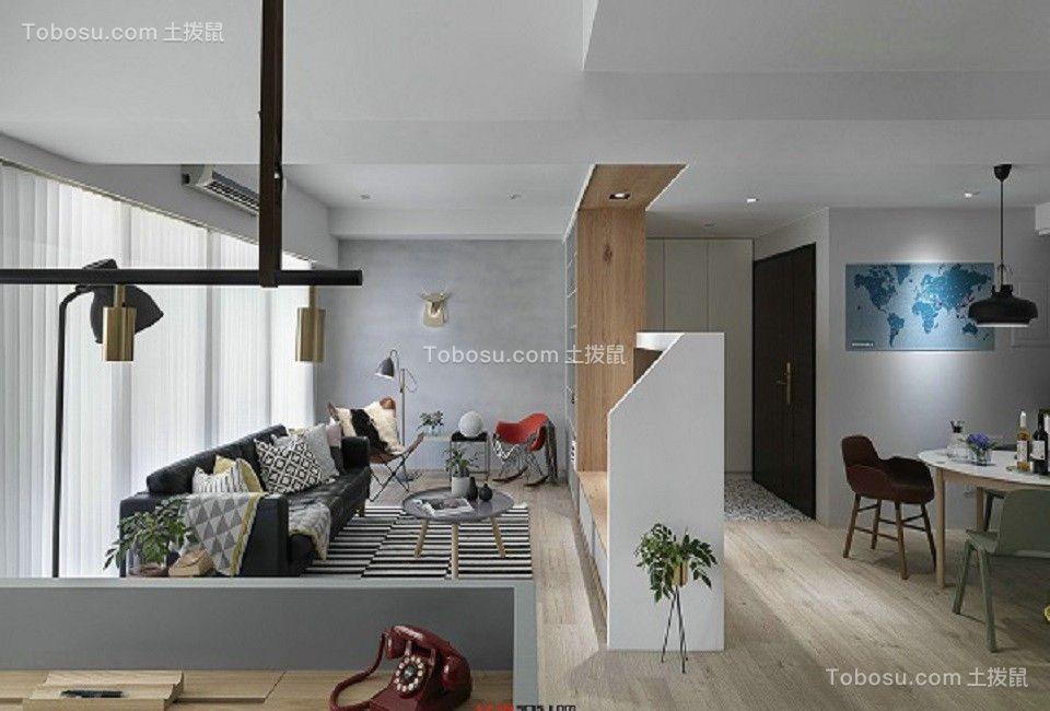 87平欧式风格两居室装修效果图