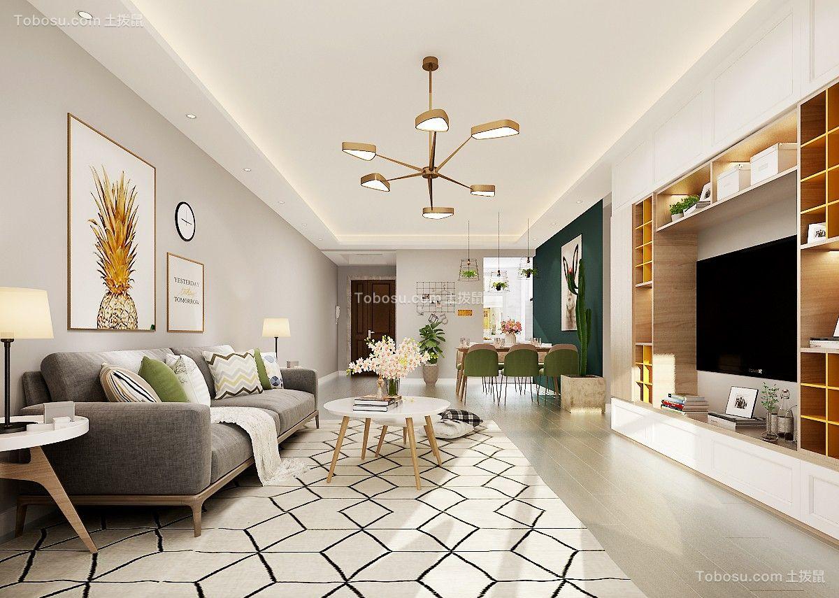 155平现代简约风格三居室装修效果图